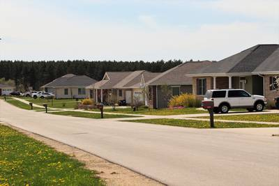 Homes are shown May 7, 2020, at the South Post Family Housing area at Fort McCoy, Wis.