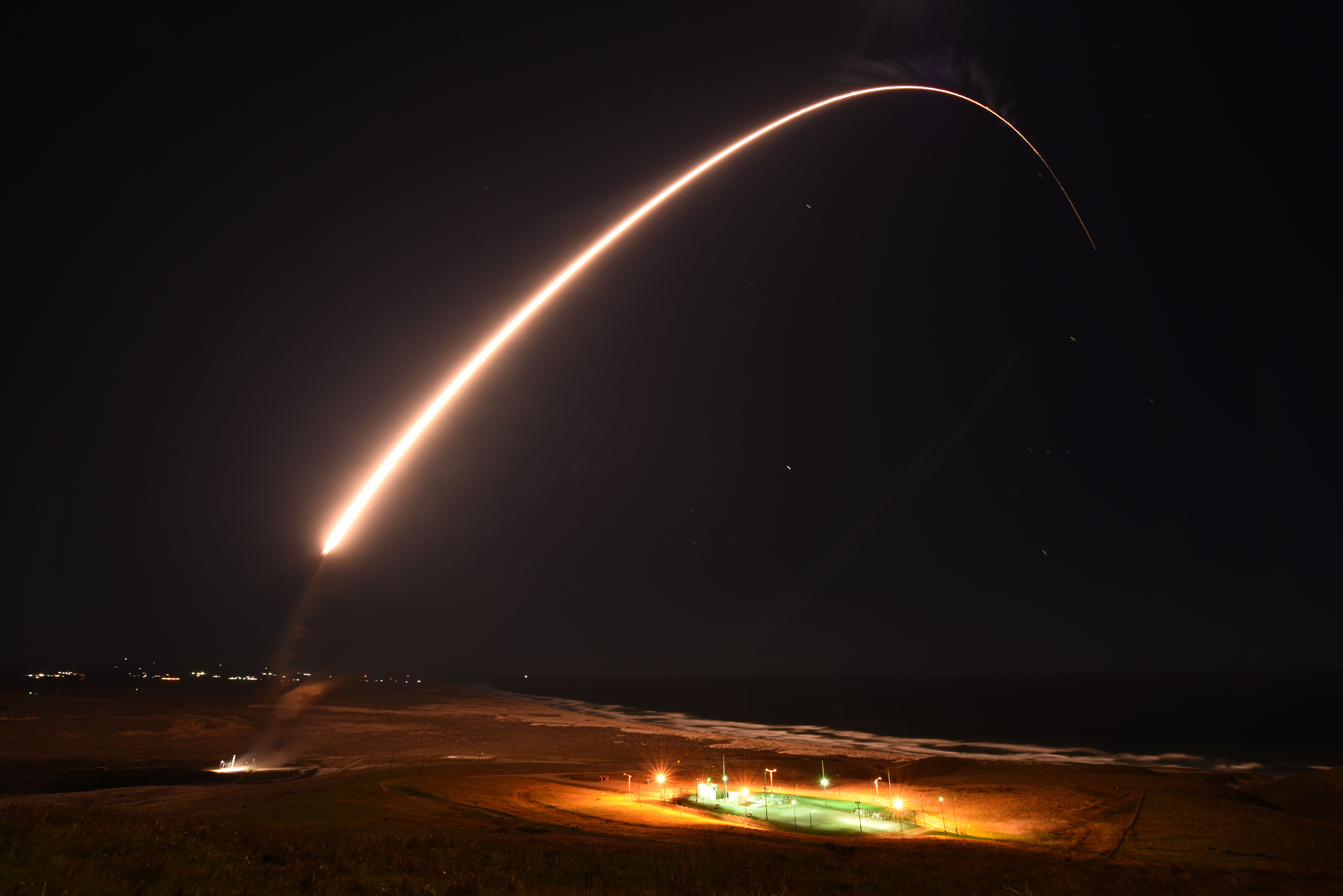 Air Force aborts test launch of unarmed Minuteman III nuclear missile