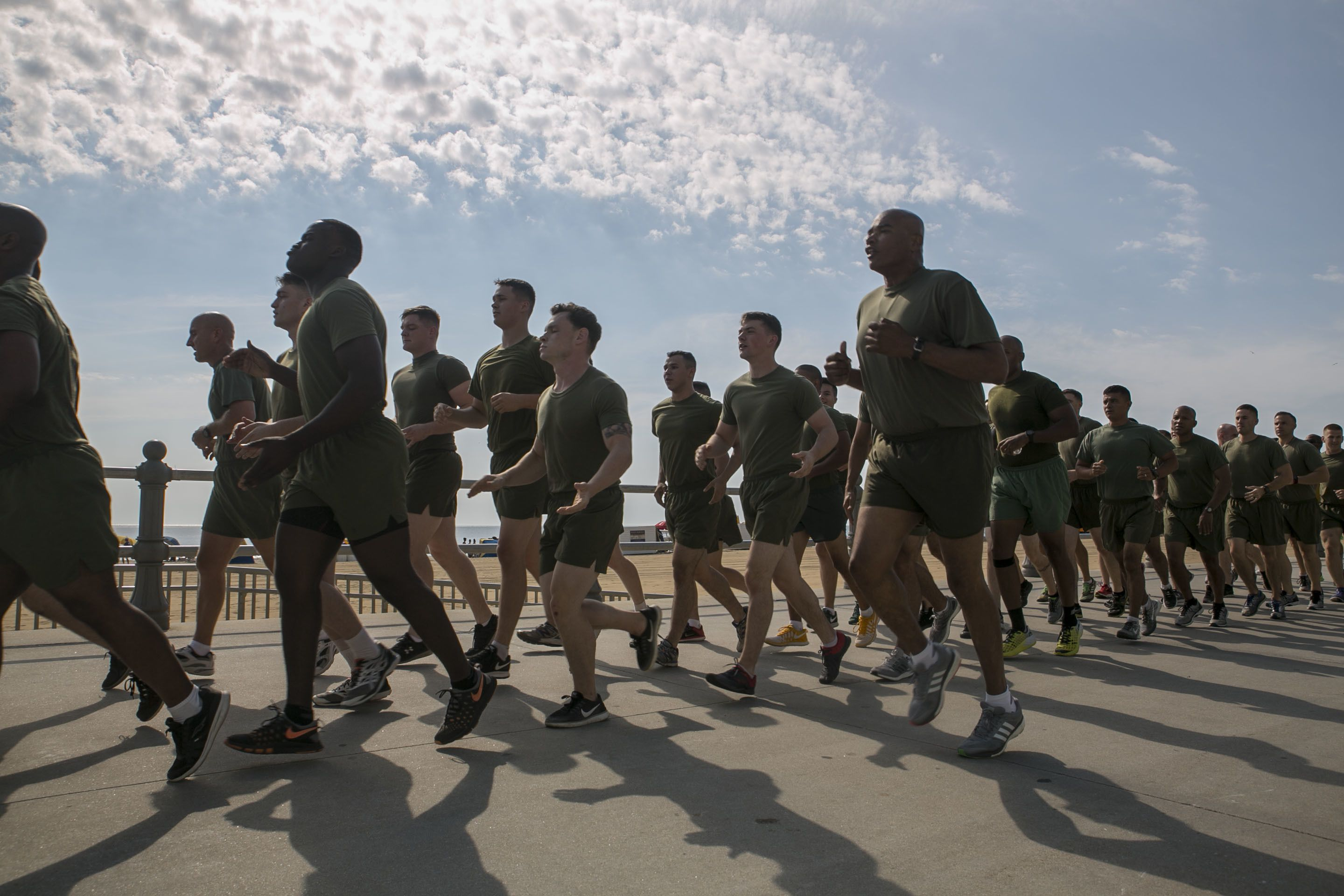 Listen to this comedian's hilarious take on military running cadence