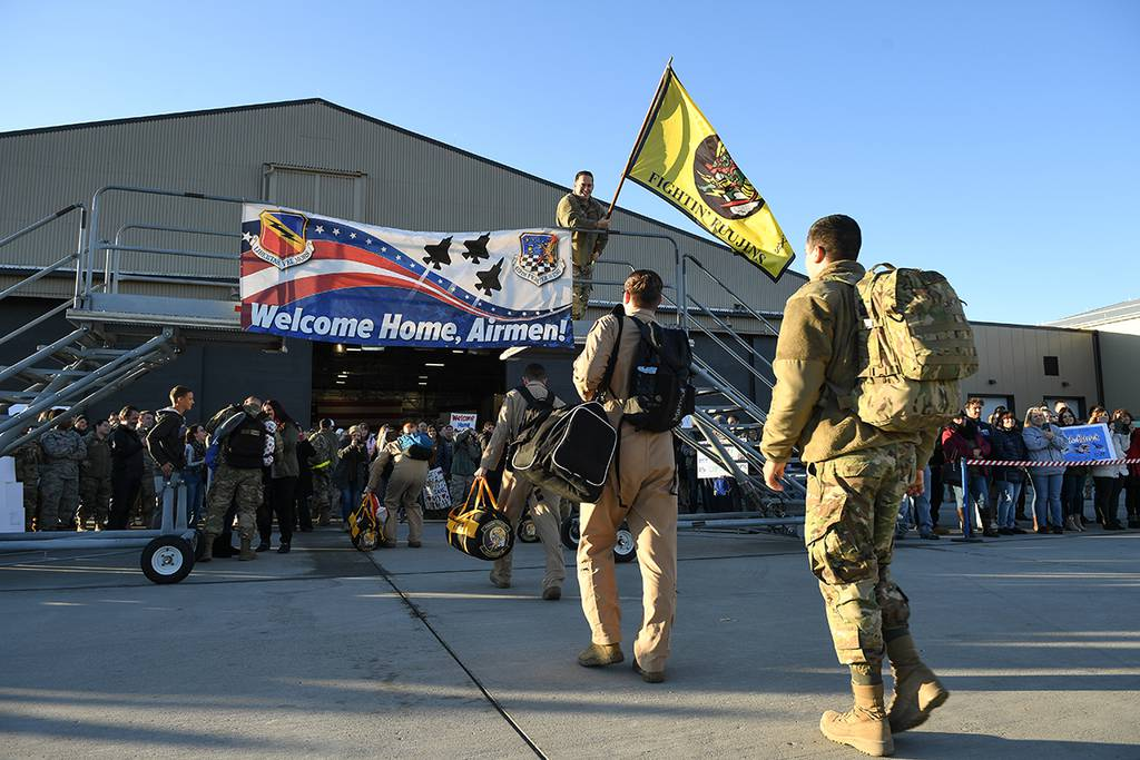 4th Fighter Squadron returns to Hill after first F-35A combat deployment