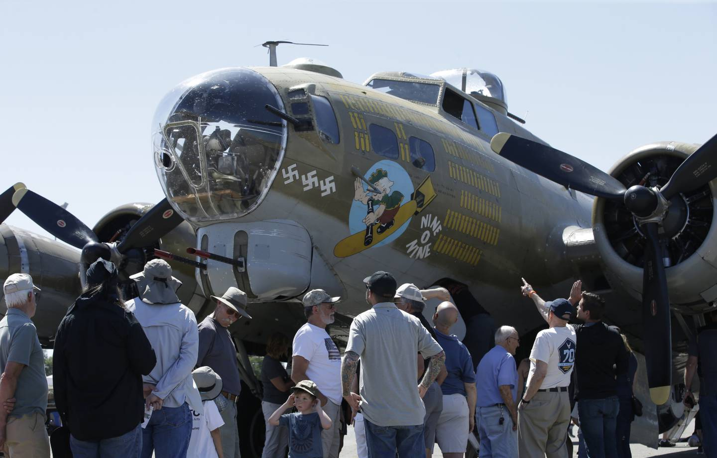 a Collings Foundation B-17 Flying Fortress