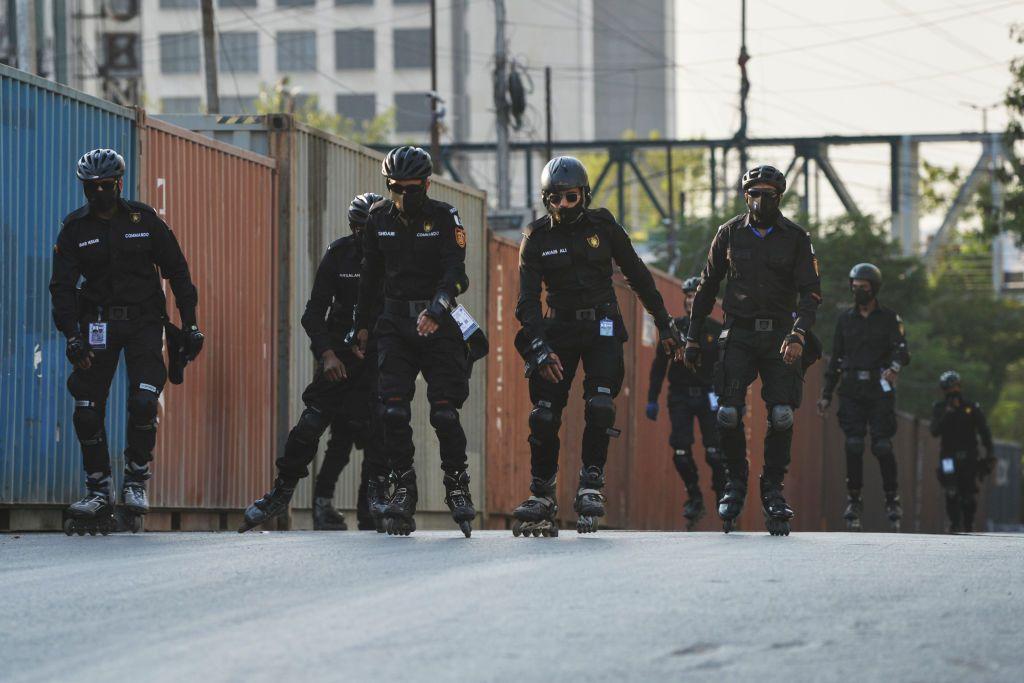 Let's blade, brah! Pakistani police shred the gnar while shredding crime