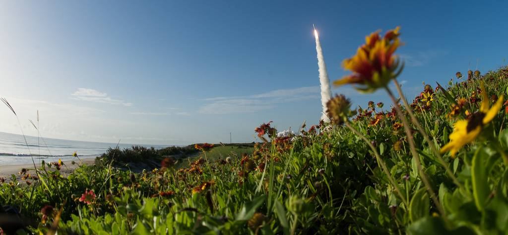 A United Launch Alliance Atlas V rocket with NASA's Mars 2020 Perseverance rover onboard launches from Space Launch Complex 41 on July 30, 2020, at Cape Canaveral Air Force Station in Florida.