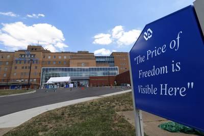 The Louis A. Johnson VA Medical Center in Clarksburg, W.Va., is seen on July 14, 2020.