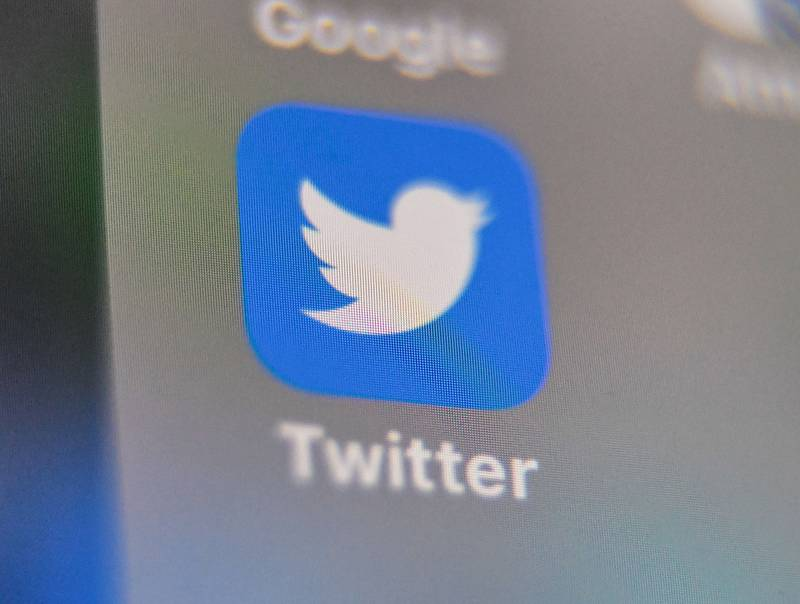 A picture taken on Sept. 4, 2019, shows the logo of the social networking website Twitter, displayed on a smart-phone screen.