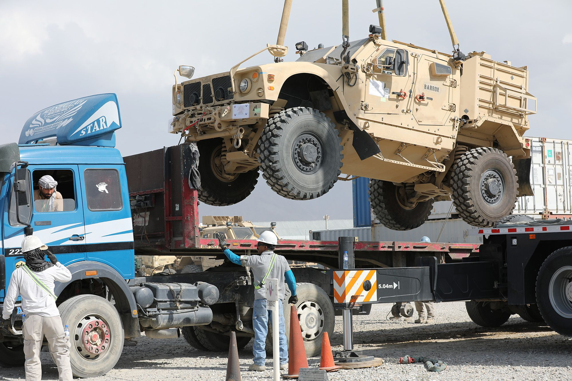 US military begins shipping equipment in Afghanistan pullout prep